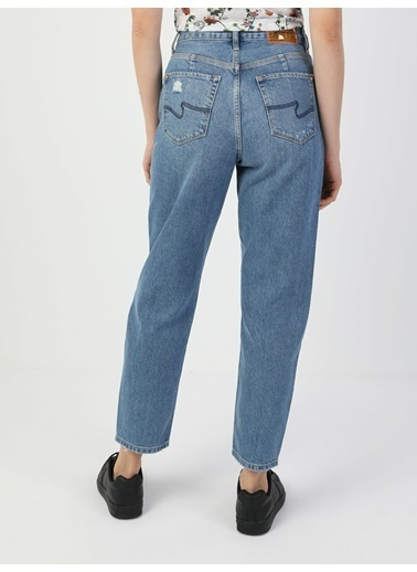 Colin's 896 Marıa Yüksek Bel Daralan Paça Mom Fit Mavi Kadın Jean Pantolon Renkli